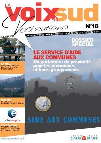 LE SERVICE D'AIDE AUX COMMUNES SPÉCIAL - Corse-du-Sud