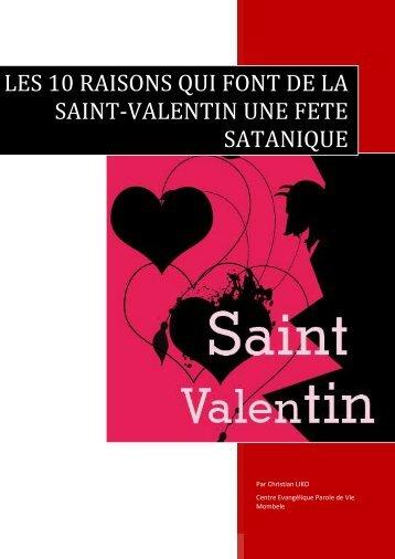 les 10 raisons qui font de la saint-valentin une fete satanique