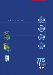 Catalogue complet de la gamme TTS - TSI Sarl
