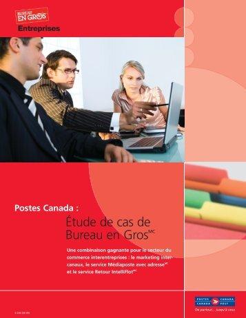 Bureau en Gros : Une combinaison gagnante pour ... - Postes Canada