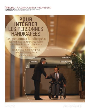pour intégrer les personnes handicapées - Groupe Conseil Continuum