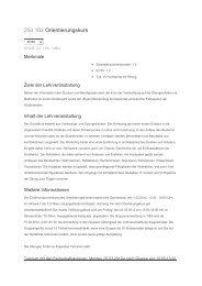 250.162 Orientierungskurs - Fakultät für Architektur und Raumplanung