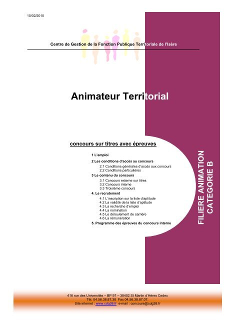 174919e4b8b Animateur Territorial - CDG38