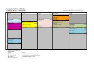 Stundenplan Bachelor Architektur 1. Sem. WS 2011/12 - Vorlesungen