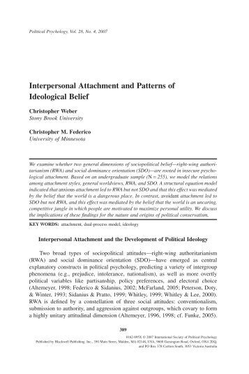 an analysis of interpersonal conflict in psychology Nonparametric statistical analysis in psychology  intergroup conflict  the focus here is on individual-level psychological processes and interpersonal.