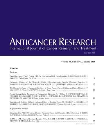 TOC (PDF) - Anticancer Research