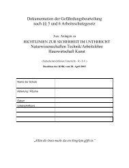 Gefährdungsbeurteilung Biologie - Arbeits- und Gesundheitsschutz ...