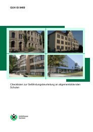 GUV-SI 8460 Checklisten zur Gefährdungsbeurteilung an
