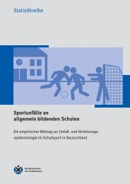 Sportunfälle an allgemein bildenden Schulen - Deutsche ...