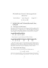 """Protokoll zum Versuch """" Ferromagnetische Hysterese"""""""