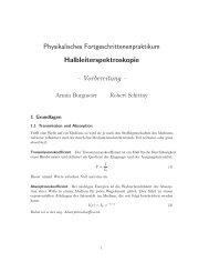 Physikalisches Fortgeschrittenenpraktikum Halbleiterspektroskopie ...