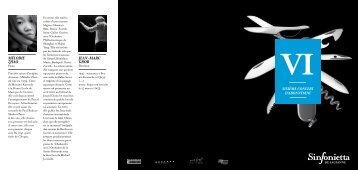 Télécharger le programme (pdf) - Sinfonietta