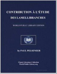 contribution à l'étude des lamellibranches - World eBook Library