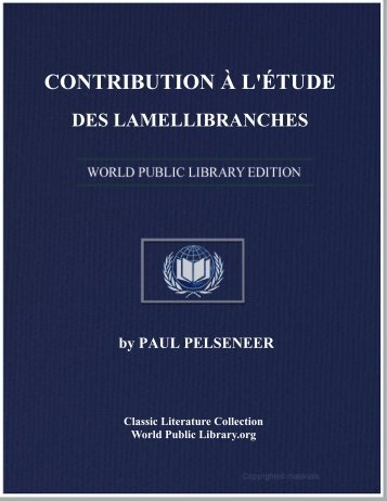 contribution à l'étude des lamellibranches - World eBook Library