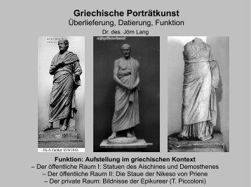 Die Statue des Aischines