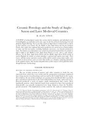 Ceramic Petrology and the Study of Anglo - Archaeology Data Service