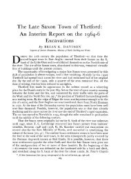 The Late Saxon Town of Thetford - Archaeology Data Service