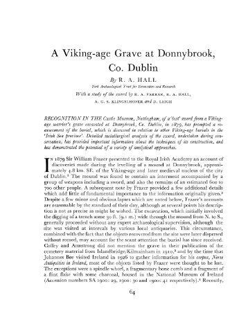 A Viking-age Grave at Donnybrook, Co. Dublin - Archaeology Data ...