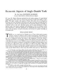 Economic Aspects of Anglo-Danish York - Archaeology Data Service