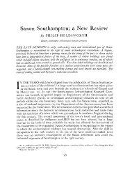Saxon Southampton; a New Review - Archaeology Data Service
