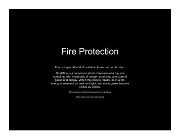 01 Fire Protection Presentation - School of Architecture and Planning