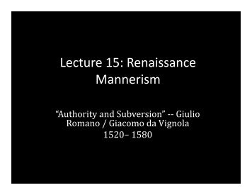 Lecture 15 - School of Architecture and Planning