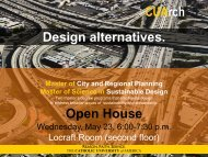 Design alternatives. - School of Architecture and Planning - The ...
