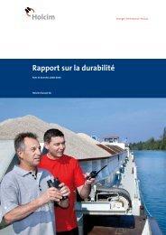 Rapport sur la durabilité 2008-2010, Holcim (Suisse)