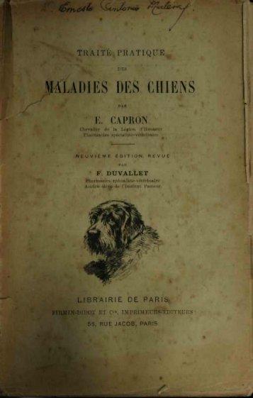 maladies des chiens