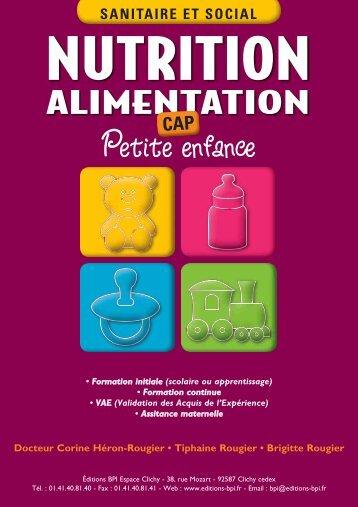 CAP Petite Enfance - Alimentation-Nutrition en PDF - Editions BPI