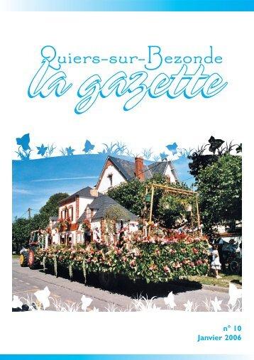 Gazette 10 - Quiers-sur-Bezonde