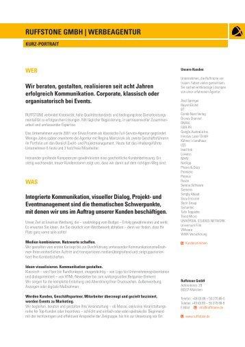 RUFFSTONE GMBH | WERBEAGENTUR