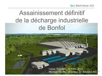 """(CSD Porrentruy): """"HDS: Assainissement de las déchetterie de Bonfol"""""""