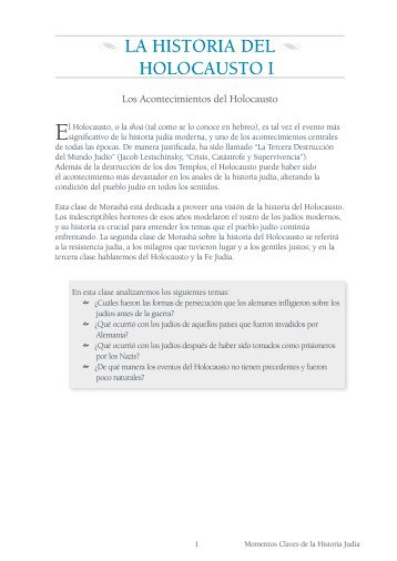 La Historia del Holocausto I.pdf - Morasha Syllabus