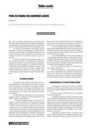Prise en charge des diarrhées aiguës - Revue Médecine Tropicale