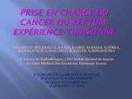 Prise en charge du cancer du rectum : Expérience Tunisienne