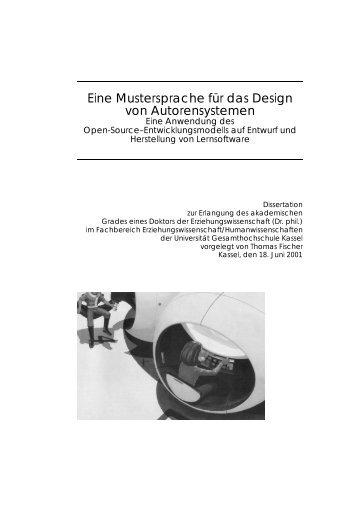 Eine Mustersprache f¨ur das Design von ... - Digitale Bibliothek