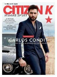 Carlos Condit pictorial in Citizen K Magazine - Full Athlete Marketing