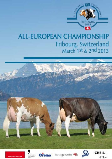 ALL-EUROPEAN CHAMPIONSHIP - European Holstein and Red ...