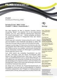 Informations-PDF zum Pitching 2008 - Filmz