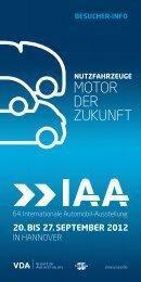 MOTOR DER ZUKUNFT - Archiv - IAA