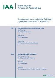 Organisatorische und Technische Richtlinien - Archiv - IAA