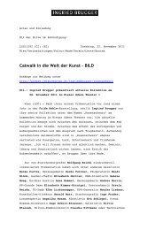 Catwalk in die Welt der Kunst - BILD - Ingried Brugger