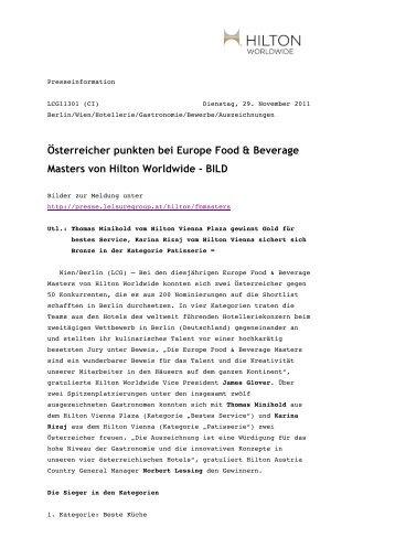 Österreicher punkten bei Europe Food & Beverage Masters von ...