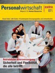 I Zukunftsvorsorge im Opting-out-Modell - Archiv - Personalwirtschaft