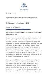 Hofübergabe in Innsbruck – BILD - leisure - leisure communications