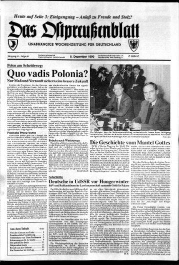 Folge 49 vom 08.12.1990 - Archiv Preussische Allgemeine Zeitung
