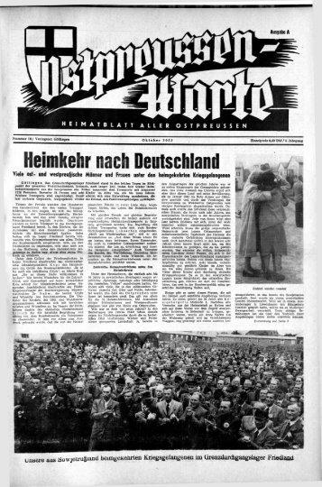 Folge 10 vom Oktober 1953 - Archiv Preussische Allgemeine Zeitung
