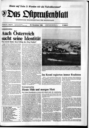 Folge 48 vom 29.11.1986 - Archiv Preussische Allgemeine Zeitung