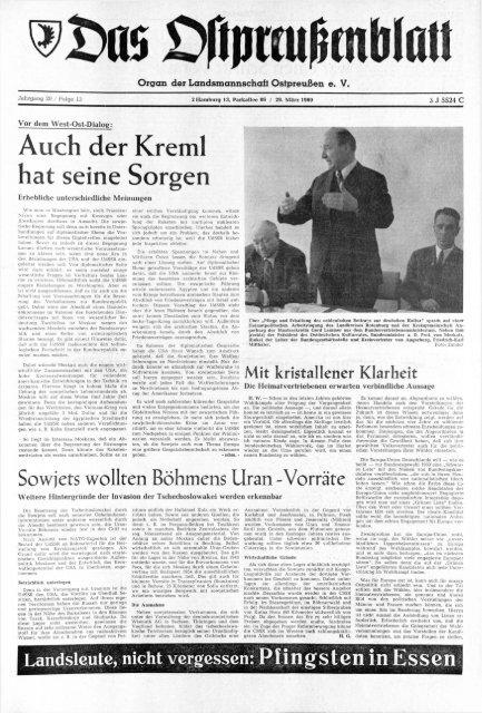 foto de Folge 13 vom 29.03.1969 - Archiv Preussische Allgemeine Zeitung